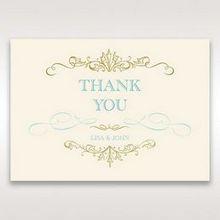 Yellow/Gold Regal Splendor - Thank You Cards - Wedding Stationery - 43