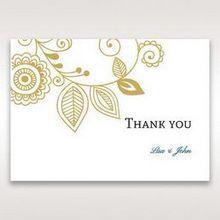 Yellow/Gold Splendid Golden Swirls - Thank You Cards - Wedding Stationery - 13