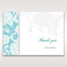 Blue Vintage Floral in Blue - Thank You Cards - Wedding Stationery - 74
