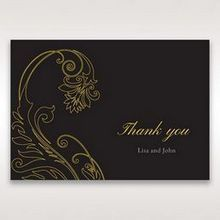 Black Urban Chic with Gold Swirls - Thank You Cards - Wedding Stationery - 78