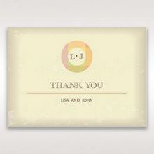 Orange Faded Modern Retro - Thank You Cards - Wedding Stationery - 75