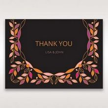 Black Wild Floral Wreath - Thank You Cards - Wedding Stationery - 81