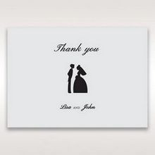 Silver/Gray Traditional Birde and Groom - Thank You Cards - Wedding Stationery - 4