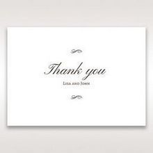 Brown Jeweled Couture in Brown - Thank You Cards - Wedding Stationery - 13