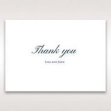 Blue Classic Embossed with a Brooch - Thank You Cards - Wedding Stationery - 43
