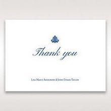 Blue Jeweled Borders - Thank You Cards - Wedding Stationery - 74