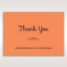 Orange Laser Peacock Laser Cut Pocket With Foil - Thank You Cards - Wedding Stationery - 3