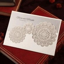 Silver/Gray Handmade Vintage Lace Floral - Wedding invitation - 61