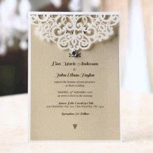 Formal Laser Cut Invite with crystal embellishments
