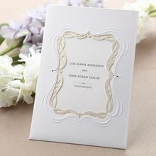 Whimsical Wedding Invitation with Laser Cut Frame