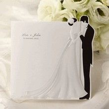 Bridal Couple Wedding Tri-fold Invitation