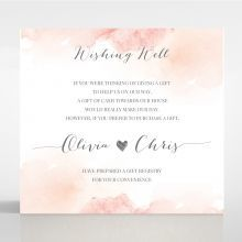 Blushing Rouge wishing well card DW116132-TR