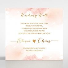 Blushing Rouge with Foil wishing well card DW116124-TR-MG