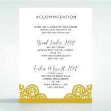 Breathtaking Baroque Foil Laser Cut accommodation card DA120001-DG