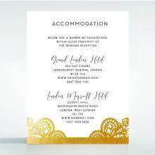 Breathtaking Baroque Foil Laser Cut accommodation card DA120001-KI-GG