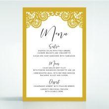 Breathtaking Baroque Foil Laser Cut menu card DM120001-DG