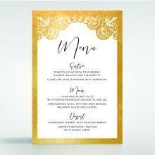 Breathtaking Baroque Foil Laser Cut menu card DM120001-KI-GG