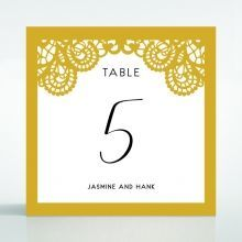 Breathtaking Baroque Foil Laser Cut table number card DT120001-DG