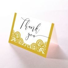 Breathtaking Baroque Foil Laser Cut thank you card DY120001-DG