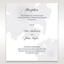 Silver/Gray Twinkling Rose - Reception Cards - Wedding Stationery - 55