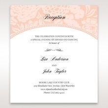 Pink Rustic Garden Laser Cut Pocket - Reception Cards - Wedding Stationery - 95