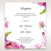 Purple Laser Cut Frame Pocket - Reception Cards - Wedding Stationery - 99