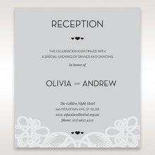 Silver/Gray Elagant Laser Cut Wrap - Reception Cards - Wedding Stationery - 6