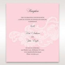 Pink Laser Cut Floral Half Pocket - Reception Cards - Wedding Stationery - 19
