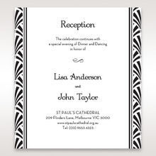 Black Dazzling Silver Foil Stamped - Reception Cards - Wedding Stationery - 6