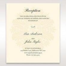 Brown Embossed Swirls Hard Layer - Reception Cards - Wedding Stationery - 32