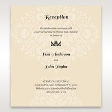 Yellow/Gold Jeweled Laser Cut - Reception Cards - Wedding Stationery - 47