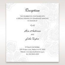 White Laser Cut Flower Frame - Reception Cards - Wedding Stationery - 74