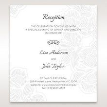 White Laser Cut Floral Lace - Reception Cards - Wedding Stationery - 28