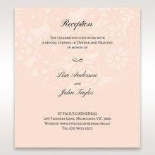 Orange Pink Light Romance - Reception Cards - Wedding Stationery - 57