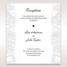 White White Dress - Reception Cards - Wedding Stationery - 38