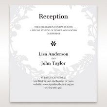 White Enchanted Forest I Laser Cut P - Reception Cards - Wedding Stationery - 39