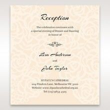 Yellow/Gold Laser Victorian Lace Laser Cut Wrap - Reception Cards - Wedding Stationery - 10