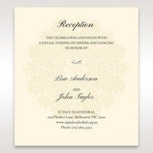 Brown Classic Couture Gold & Brown - Reception Cards - Wedding Stationery - 84