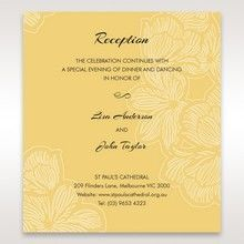 Yellow/Gold Laser Cut Flower Frame III - Reception Cards - Wedding Stationery - 67