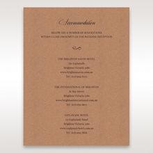 Brown Rustic Romance Laser Cut Sleeve - Accommodation - Wedding Stationery - 87