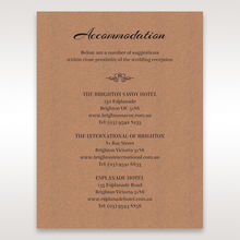 Brown Countryside Chic - Accommodation - Wedding Stationery - 90