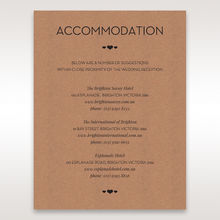 Brown Blissfully Rustic Laser Cut Wrap - Accommodation - Wedding Stationery - 91