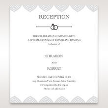 White Everly - Reception Cards - Wedding Stationery - 6