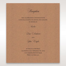 Brown Rustic Romance Laser Cut Sleeve - Reception Cards - Wedding Stationery - 92
