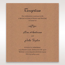 Brown Countryside Chic - Reception Cards - Wedding Stationery - 95