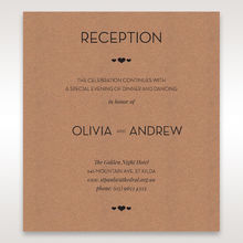 Brown Blissfully Rustic Laser Cut Wrap - Reception Cards - Wedding Stationery - 96