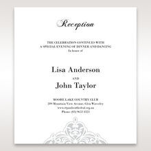 White An Elegant Beginning - Reception Cards - Wedding Stationery - 23
