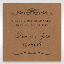 Brown Country Glamour - Gift Tags - Wedding Stationery - 37