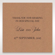 Brown Rustic Romance Laser Cut Sleeve - Gift Tags - Wedding Stationery - 97