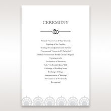 White TrGDitional Romance - Order of Service - Wedding Stationery - 71